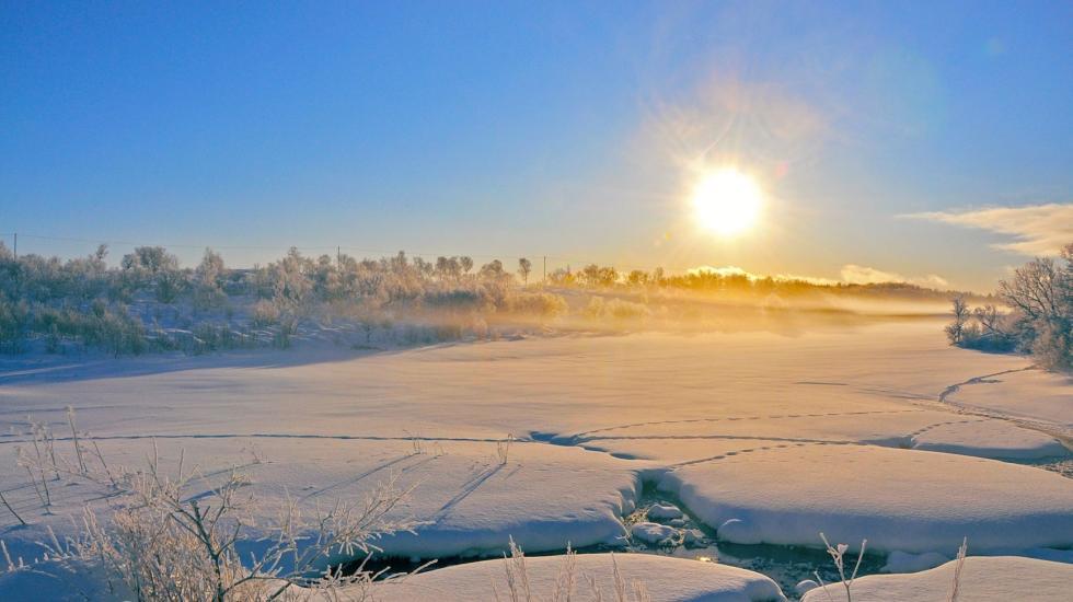 vinter sol smelt